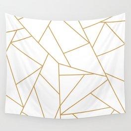 Geometric Gold Hexagon Pattern Wall Tapestry