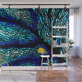 Sea fans diving coral stained glass Wall Mural
