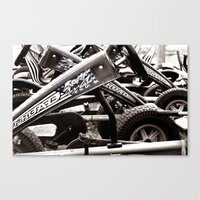 yowamushi pedal Canvas Prints featuring Pedal Cars by Upperleft Studios