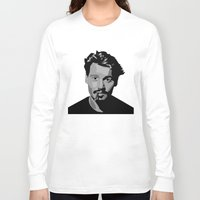 johnny depp Long Sleeve T-shirts featuring Johnny Depp by Tori Kim