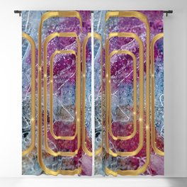 Elves Window - Blue Marble Geometry Blackout Curtain