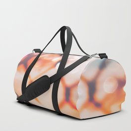 summer sunset sky over the mountain with bokeh light abstract Duffle Bag