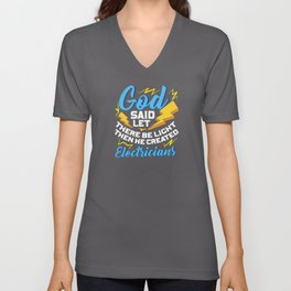 Electrician Electrical Engineer Gift Electronics Unisex V-Neck