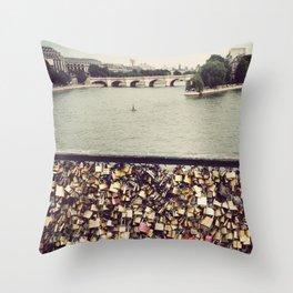 Pont des Art - Paris Throw Pillow