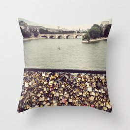 Pont des Art - Paris Throw Pillow
