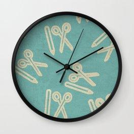 Pencil & Scissors Wall Clock