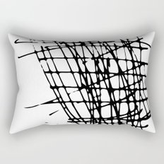Sketch Black and White Rectangular Pillow