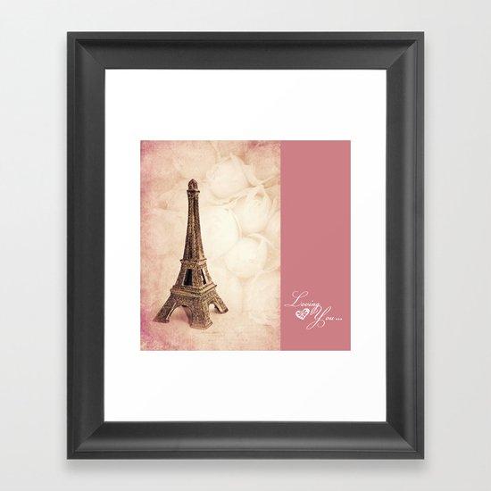 LOVING YOU ... Framed Art Print