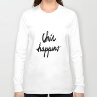 chic Long Sleeve T-shirts featuring CHIC  by I Love Decor