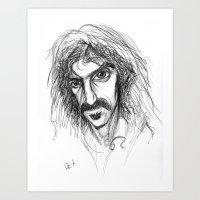 zappa Art Prints featuring Zappa by Mark T. Zeilman