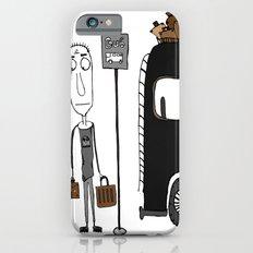 Bus stop , waiting, gray, bus Slim Case iPhone 6s
