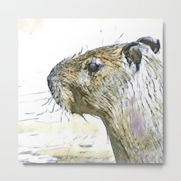 fascinating altered animals - Capybara Metal Print