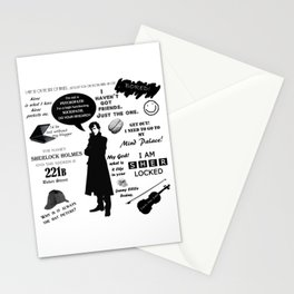Sherlock Holmes Quotes Stationery Cards