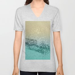 Lemon Twist Beach Glitter #2 #shiny #decor #art #society6 Unisex V-Neck