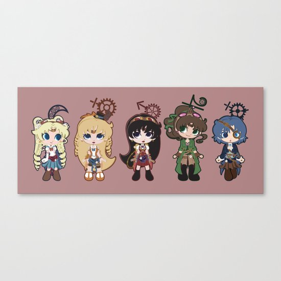 Steampunk Sailor Moon - Inners Canvas Print
