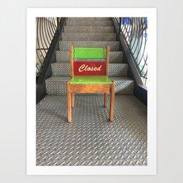 Closed Chair Art Print