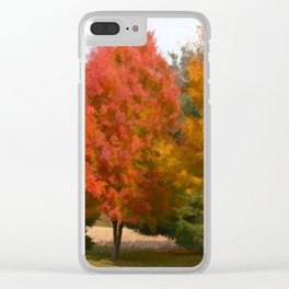 Welcome Fall Clear iPhone Case