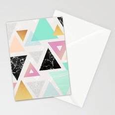 Pattern texture triangles Stationery Cards
