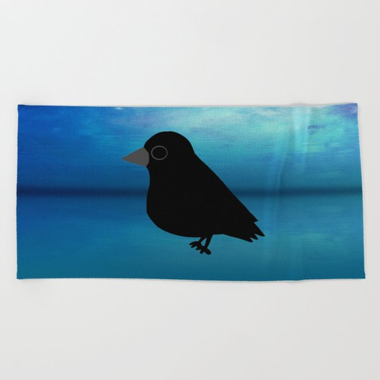 Crow-382 Beach Towel