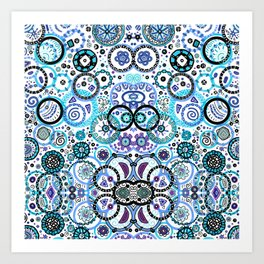 Blue Circles Art Print