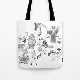 Ink Thoughts Seven Tote Bag