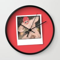 the flash Wall Clocks featuring Flash. by KODYMASON