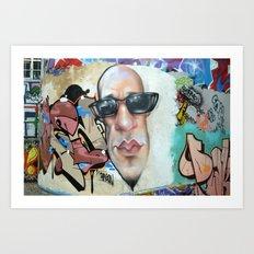 Sunglasses graffiti Art Print