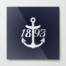 Navy Chief, Navy Pride, CPO, Goat Locker, Anchor 1893 Metal Print