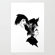 Freedom for my crows... Art Print