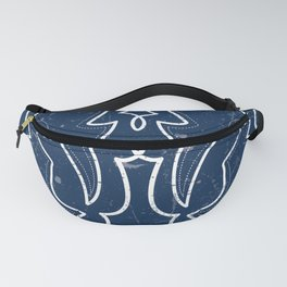 Vintaged/Distressed Cowboy Boot Stitch Pattern in Blue Fanny Pack
