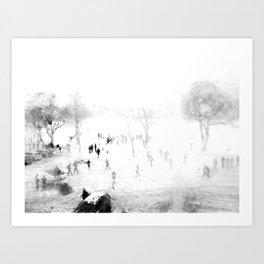 Snow Through Glass Art Print