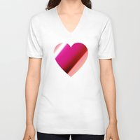 bands V-neck T-shirts featuring Bands Heart by Tom Sebert