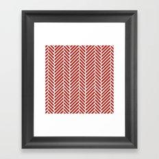 Herringbone Candy Framed Art Print