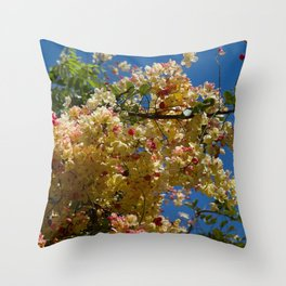 Wilhelmina Tenney Rainbow Shower Tree Throw Pillow