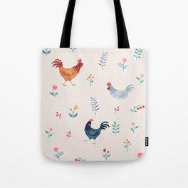 Little Hens (ivory) Tote Bag