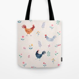 Little Hens (ivory) Tote Bag