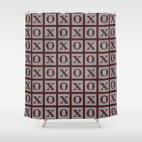 xoxo Shower Curtains featuring XOXO by LLL Creations