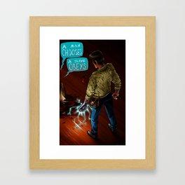 Would You Kindly Framed Art Print