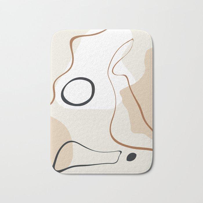 abstract minimal 15 Bath Mat