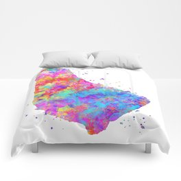 Barbados Map Comforters