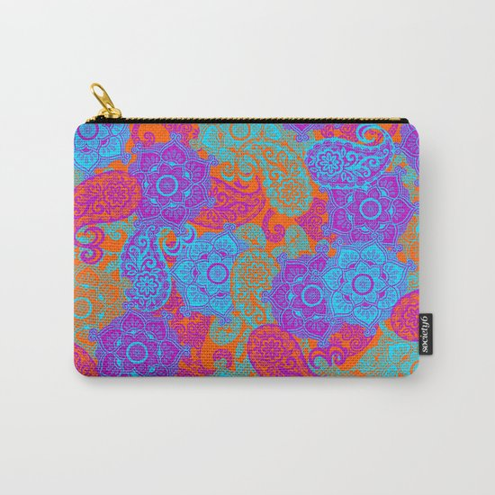 vibrant paisley Carry-All Pouch
