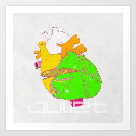 HEART OF THE JULIET - DAGGER Art Print