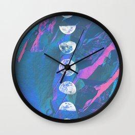 Iridescent Moon Time Wall Clock