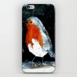 Robin British Wildlife Wild Bird Acrylic Painting iPhone Skin