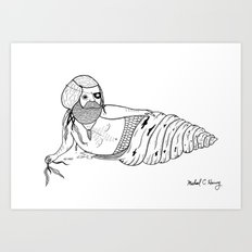 On the the various sensual mating rituals used by mermen.  Art Print