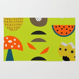 Modern decor with fruits and flowers Rug