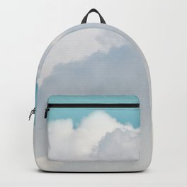 Cotton Clouds Teal Sky Backpack