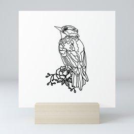 MINIMAL LINE ART BIRD Mini Art Print