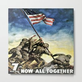 Now All Together - Vintage Military Poster Metal Print