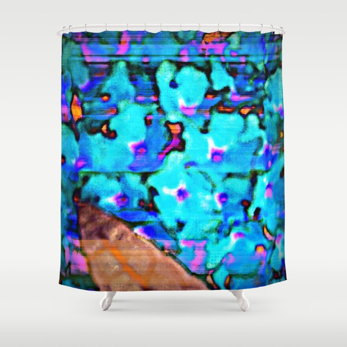 Blue Butterfly Bush  Shower Curtain